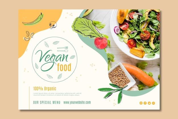 Modello di pagina di destinazione per cibo vegano