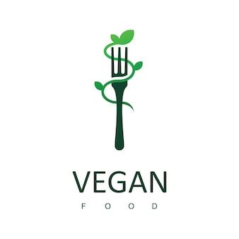 Logo di cibo vegano simbolo di cibo sano