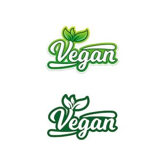 Adesivi di cibo vegano