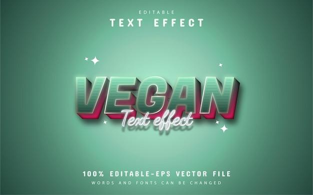 Testo vegano - effetto di testo in stile sfumato modificabile