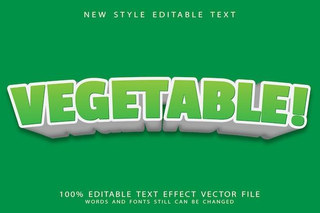 Effetto di testo modificabile vegetale in rilievo in stile moderno