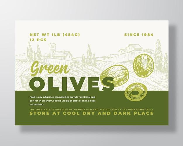 Modello di etichetta alimentare vegetale astratto vettoriale packaging design layout moderno tipografia banner con ...