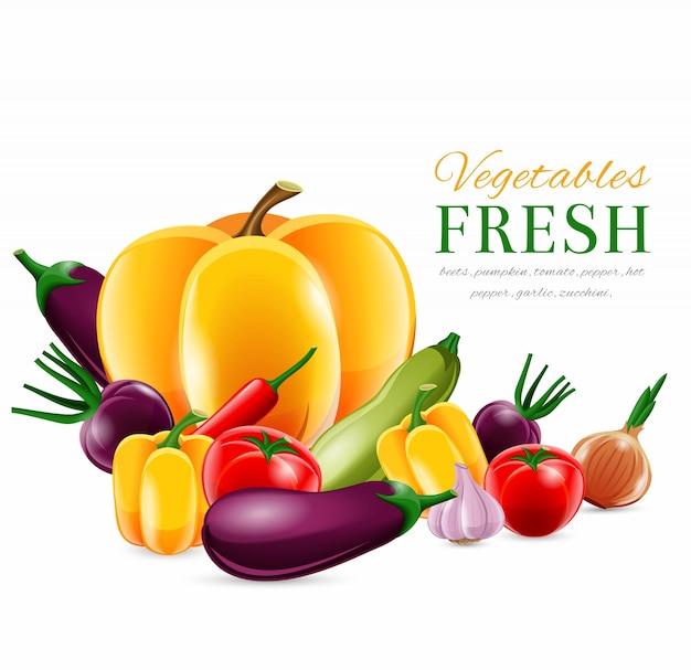 Poster di gruppo di verdure