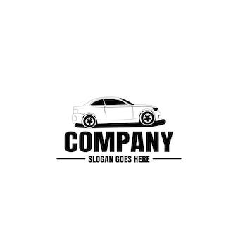 Modello di logo del veicolo. icona auto per il design aziendale. noleggio, riparazione, concetto di garage. Vettore Premium