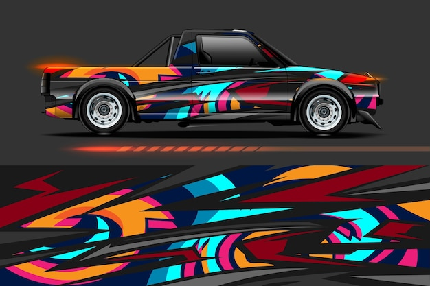 Design avvolgente in vinile per veicoli con sfondo astratto striscia da corsa