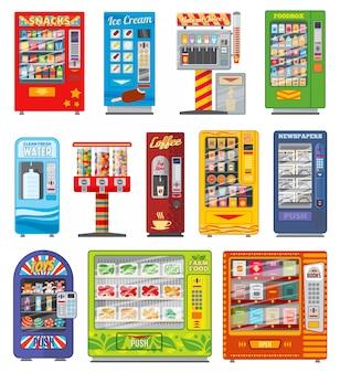 Distributore automatico, vendita automatica di cibi e bevande