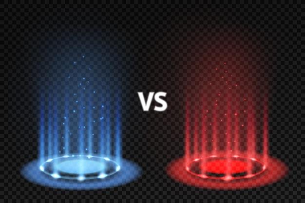Contro i podi luminosi delle battaglie per abbinare i combattenti