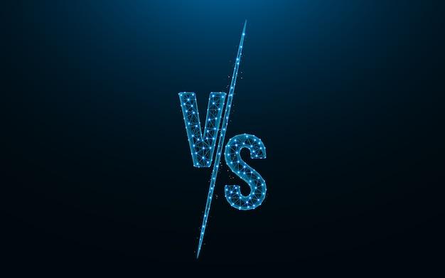 Versus battle design low poly