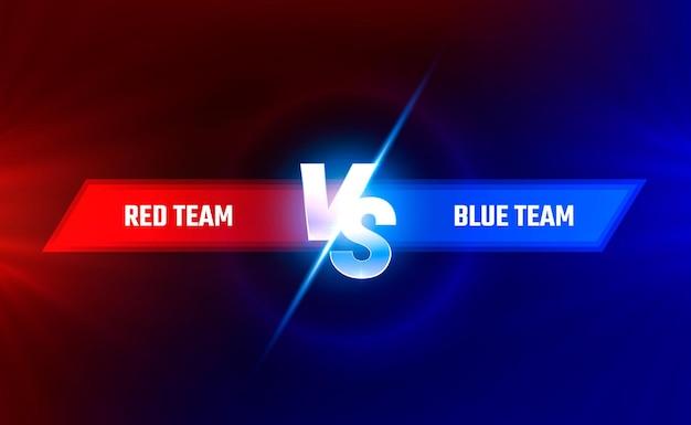 Contro la copertina del gioco, banner sport vs, concetto di squadra