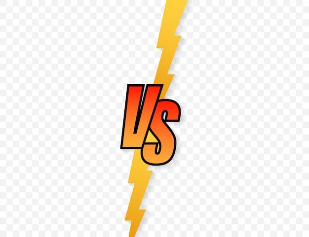 Versus logo vs lettere per lo sport e la competizione di combattimento Vettore Premium