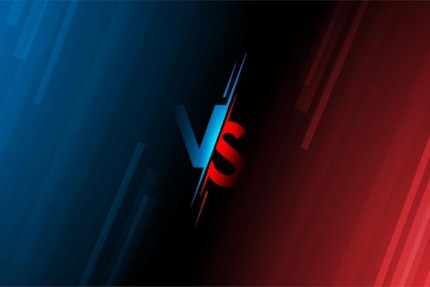 Le lettere versus vs combattono su sfondi in un design in stile piatto con mezzitoni