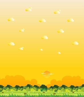 Scena della natura verticale o campagna del paesaggio