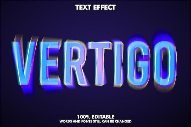 Vertigo effetto testo moderno stile di testo modificabile