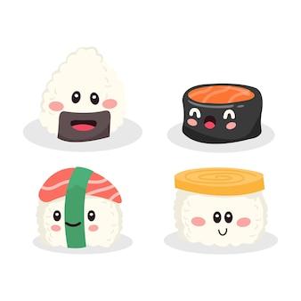 Collezione molto carina di sushi e vari altri cibi?