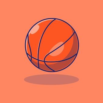 Disegno di illustrazione vettoriale di basket molto realistico