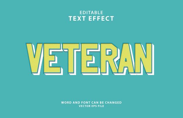 Effetto di testo modificabile 3d veterano