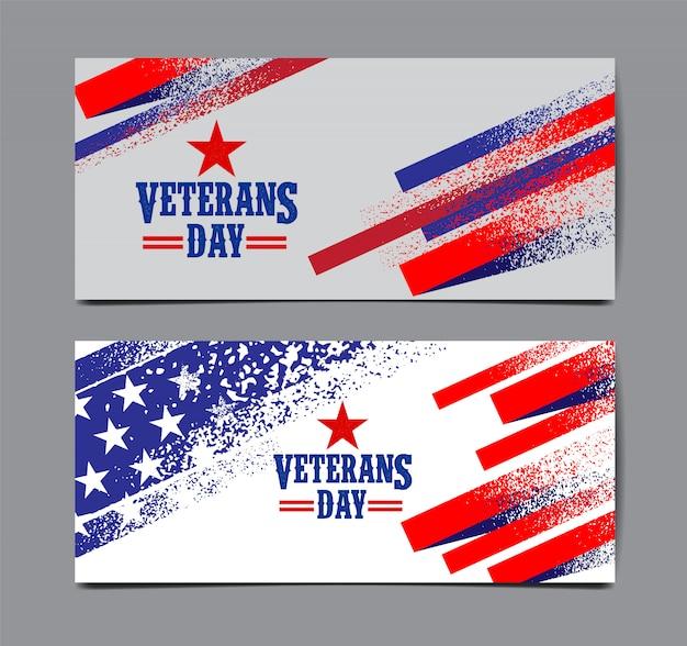 Insieme della bandiera di giorno dei veterani