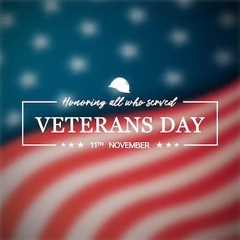 Banner di veterans day.