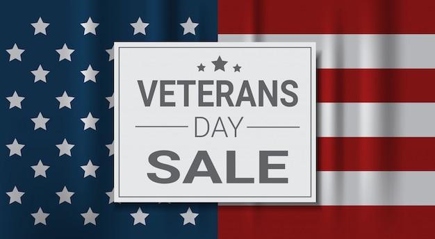 Festa dei veterani sale celebrazione shopping promozioni e prezzo sconto banner nazionale americano di festa