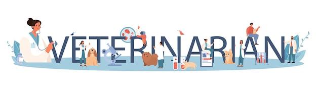 Intestazione tipografica veterinaria