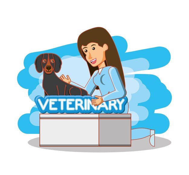 Veterinario in ufficio attenzione