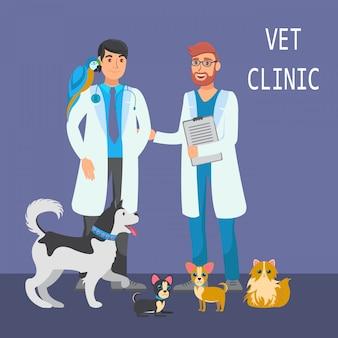 Illustrazione di colore piatto consultazione veterinaria