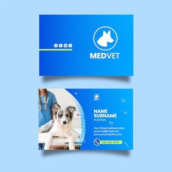 Biglietto da visita veterinario fronte-retro