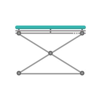 Icona dell'attrezzatura dello strumento della barella veterinaria