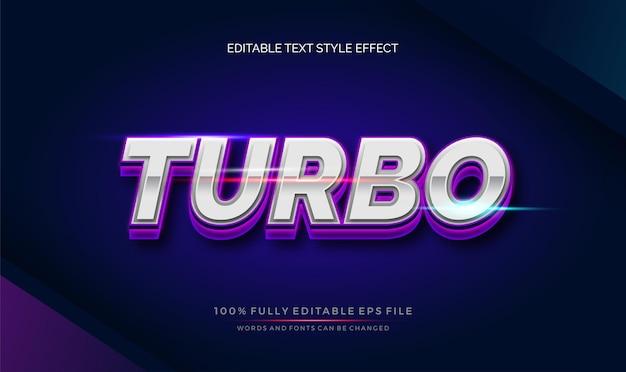 Vibes chrome stile di testo tema moderno. effetto di stile di testo modificabile vettoriale.