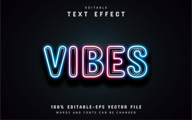 Vibes effetto testo al neon