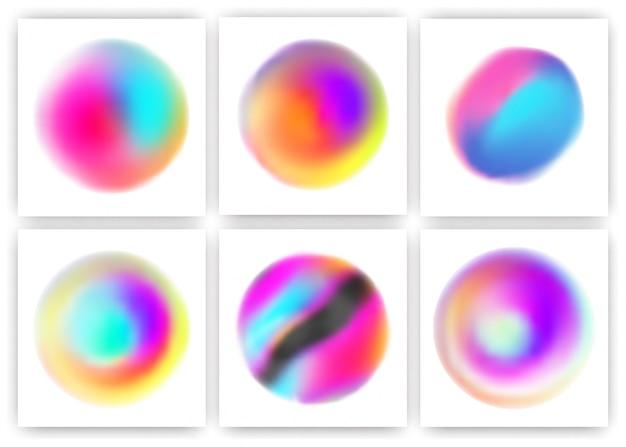 Insieme di elementi di design del cerchio stile vibrante fluido