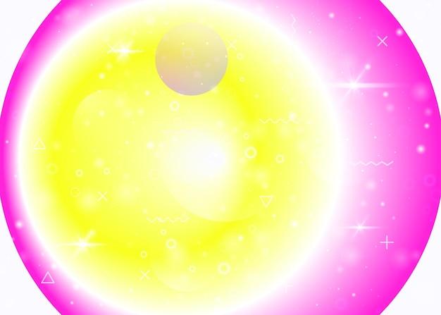 Gradienti vibranti su sfondo arcobaleno. fluido dinamico olografico