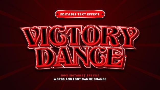 Effetto di testo modificabile di danza della vittoria in moderno stile 3d