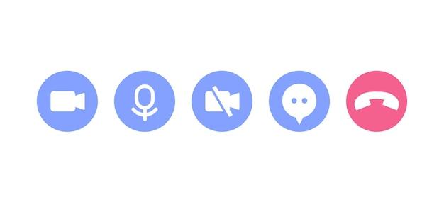 Icone di videochiamata per l'interfaccia