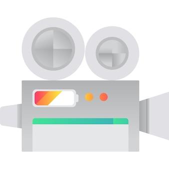 Videocamera icona vettore videocamera piatto simbolo