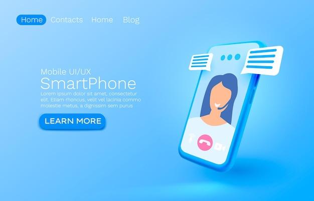 Tecnologia dello schermo mobile per smartphone per chat video