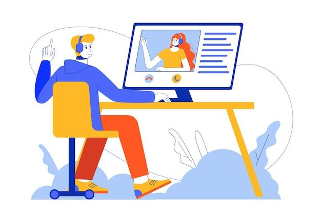 Concetto di video chat web