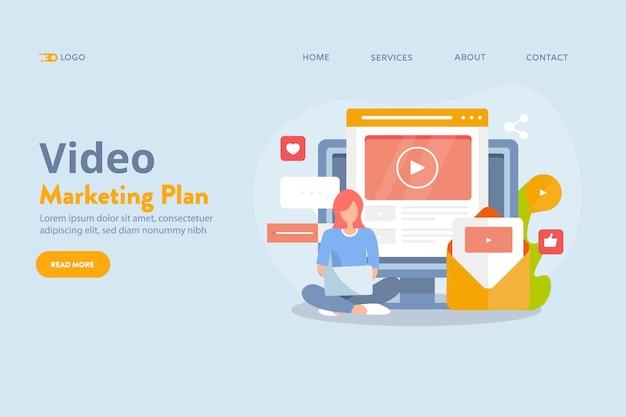 Concetto di marketing per l'editing video