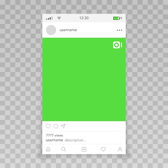 Fotogramma video per modello instagram