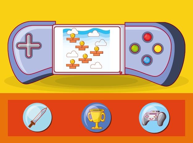 Icone di controllo dei videogiochi