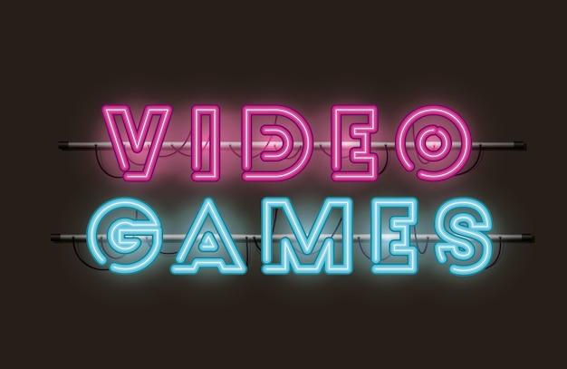 Font al neon per videogiochi