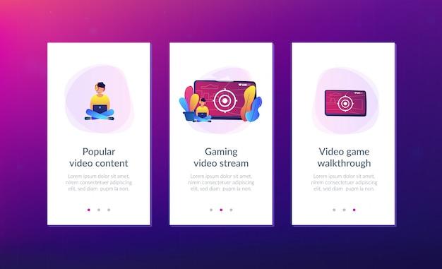 Modello di interfaccia dell'app per videogiochi.