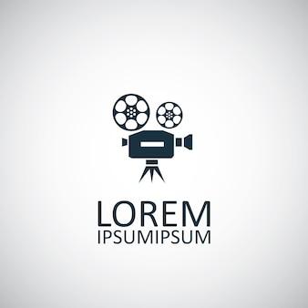 Icona video isolata su sfondo bianco