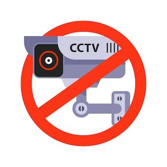 Segnale di divieto di videosorveglianza