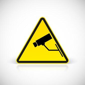 Simbolo di videosorveglianza. simbolo nel segno triangolare