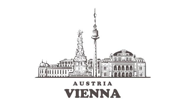 Paesaggio urbano di vienna, austria
