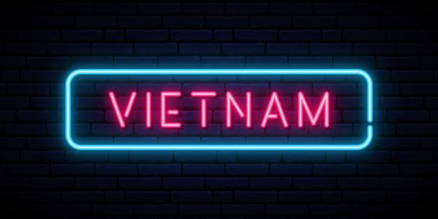 Insegna al neon del vietnam.