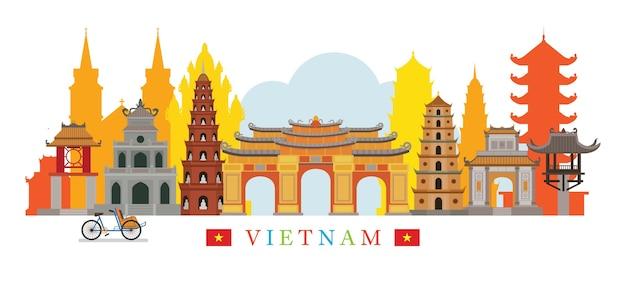 Luoghi d'interesse di skyline del vietnam