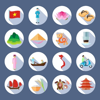 Simboli nazionali vietnamiti cultura tradizioni culinarie