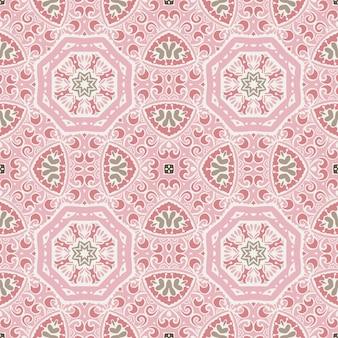 Modello senza cuciture etnico bohemien di piastrelle geometriche vintage